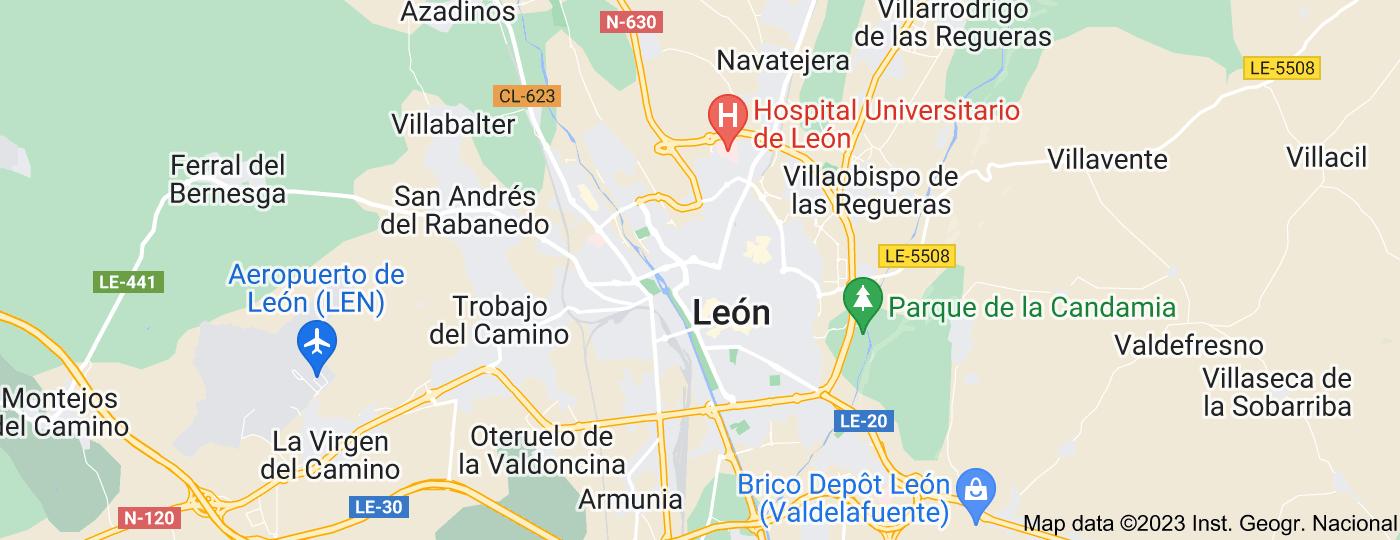 Location of León