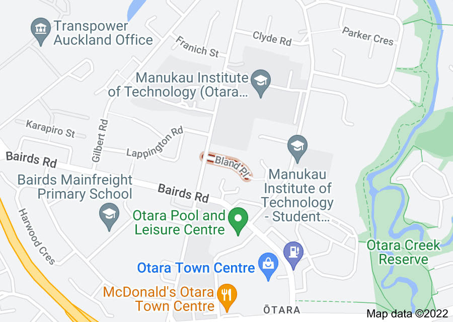 Location of Bland Place