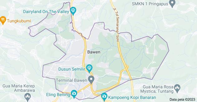 Peta Bawen, Semarang, Jawa Tengah