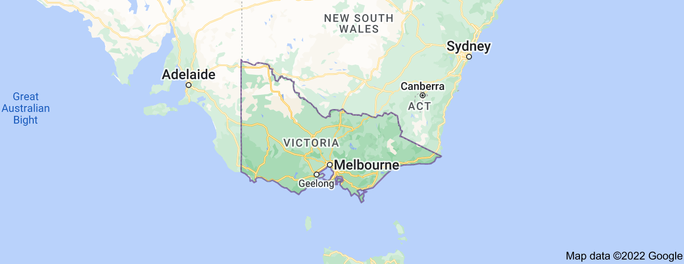 Location of Victoria