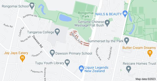 Location of Belinda Avenue