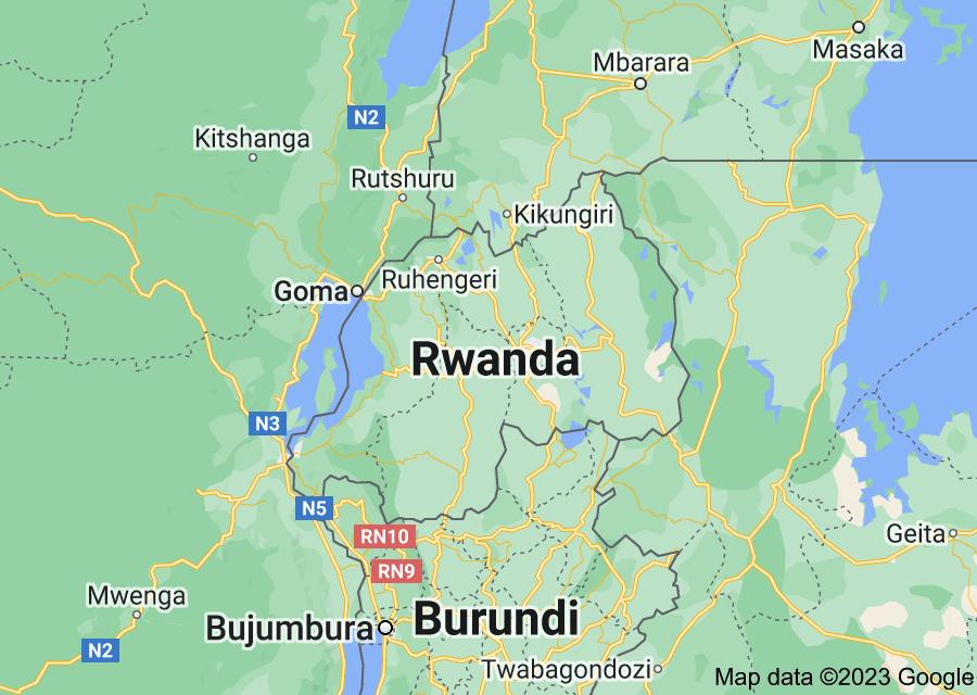 Location of Rwanda