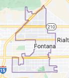 Map of Fontana, California