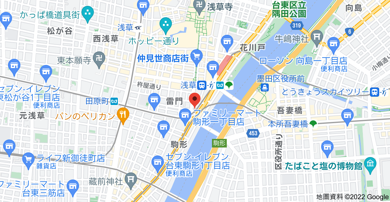 日本〒111-0034 Tōkyō-to, Taitō-ku, Kaminarimon, 2 Chome−3, ダイナシティ雷門地圖
