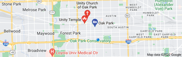 Map of unity church oak park