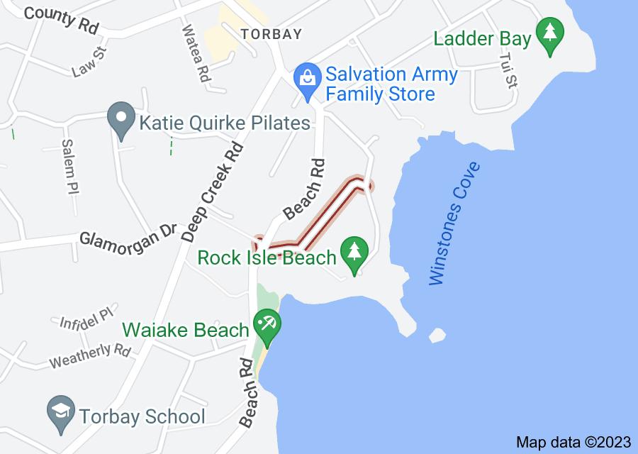 Location of Waiake Street
