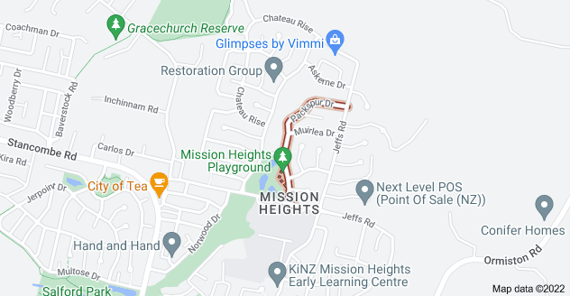 Location of Packspur Drive