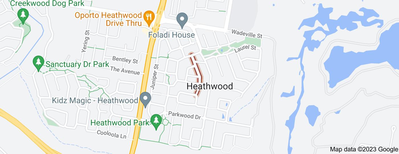 Location of Melaleuca Street