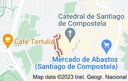 Map of Praza do Obradoiro