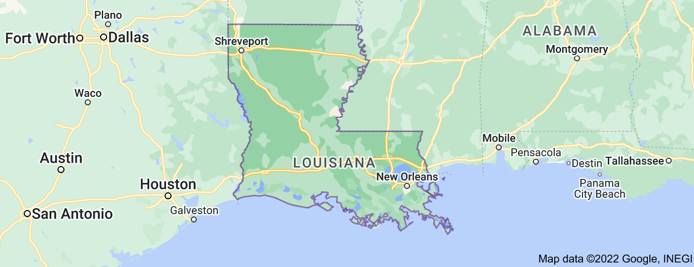 Location of Louisiana