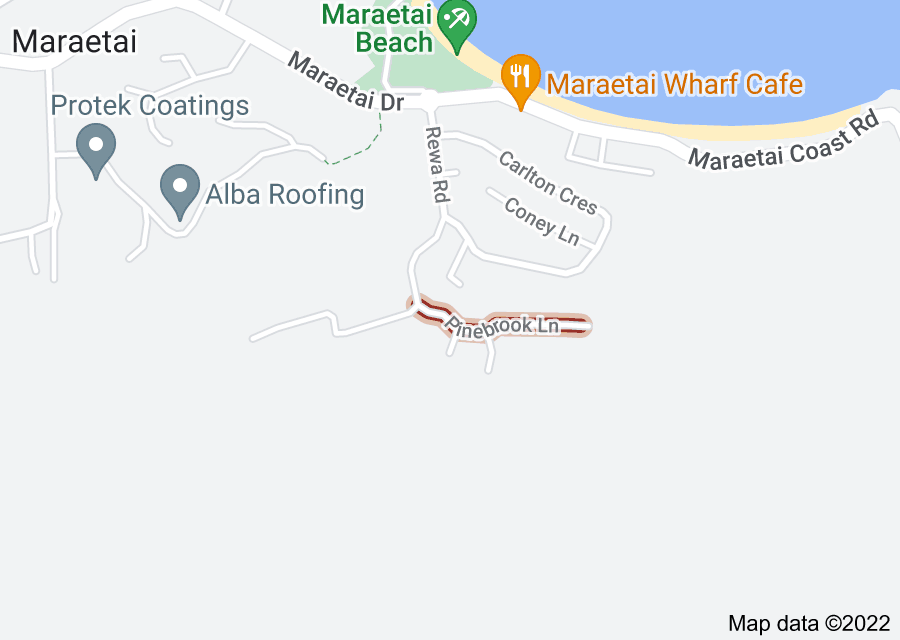 Location of Pinebrook Lane