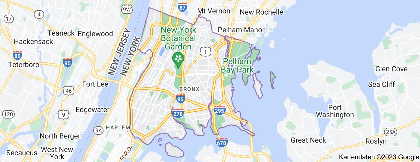 Location of Bronx