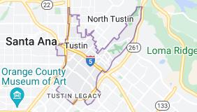 Map of Tustin, California