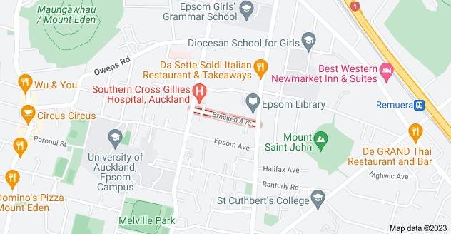 Location of Bracken Avenue