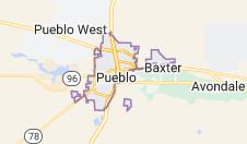 Map of Pueblo, Colorado