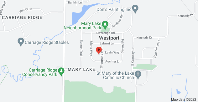 Map of 5503 Shamrock Rd, Waunakee, WI 53597
