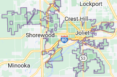 Map of Joliet, Illinois