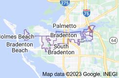Map of Bradenton, Florida