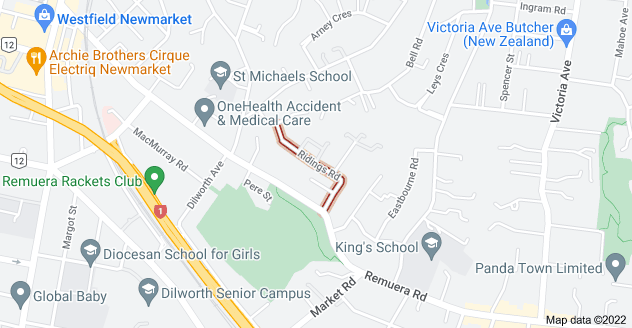 Location of Ridings Road