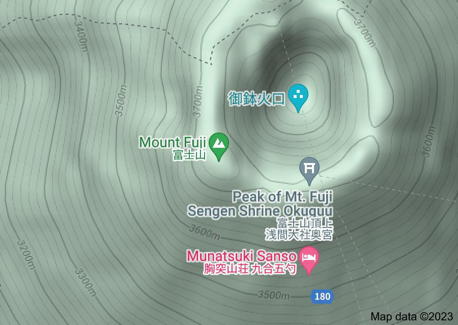 Location of Mount Fuji