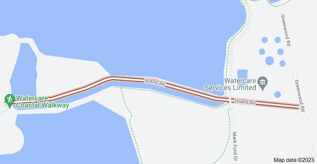 Location of Island Road