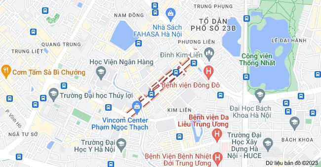 Bản đồ của Phạm Ngọc Thạch, Đống Đa, Hà Nội