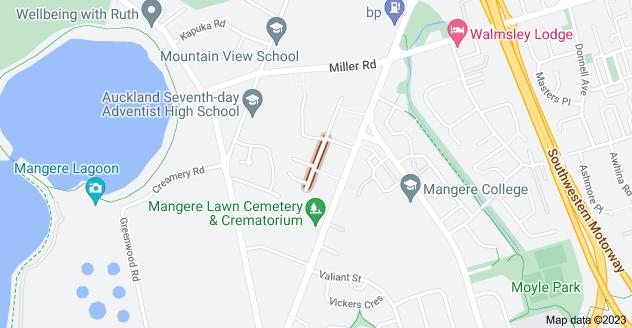 Location of Korimako Avenue