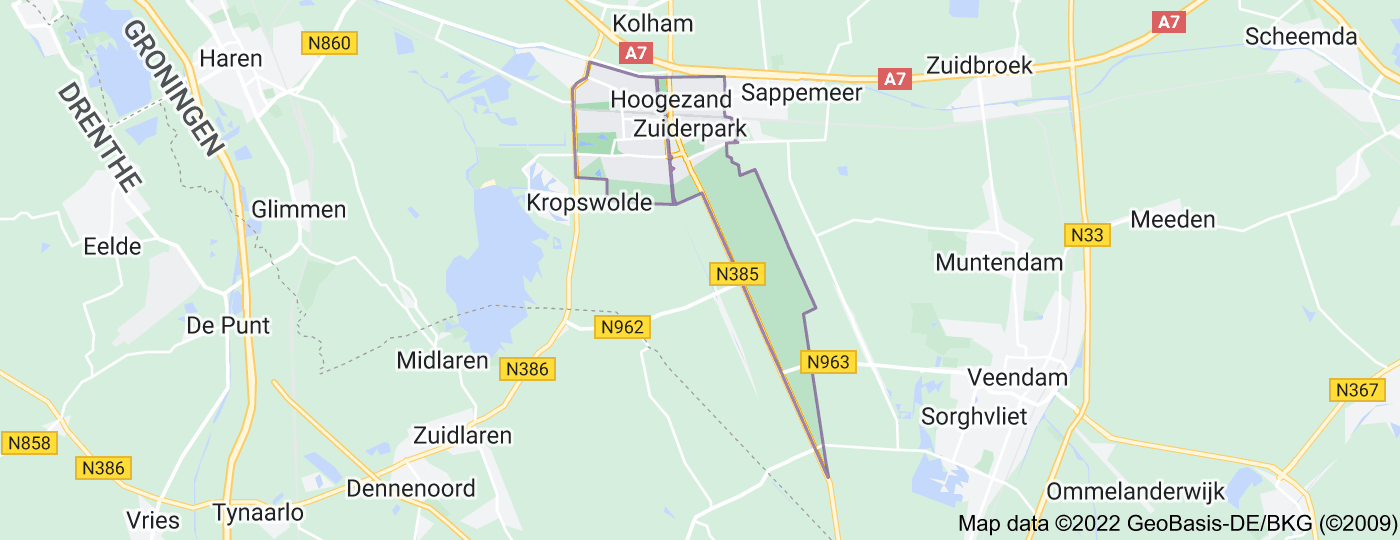 Location of Hoogezand