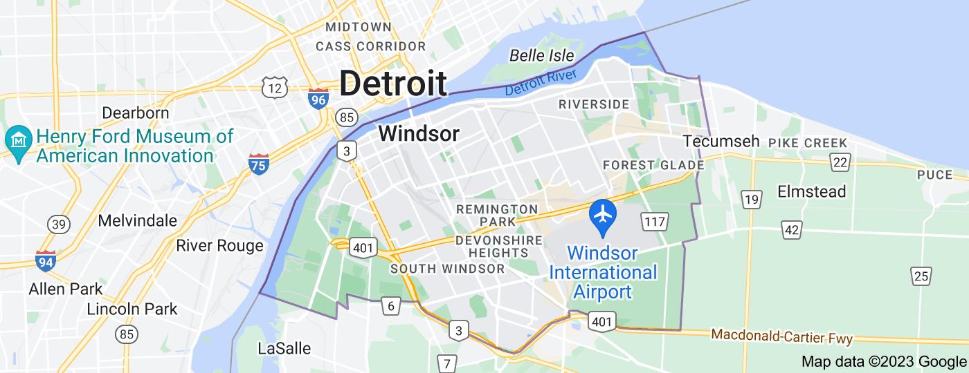 Location of Windsor