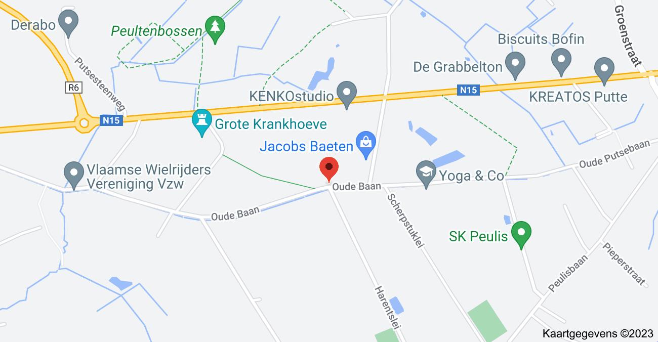 Kaart van Harentslei & Oude Baan, 2820 Putte