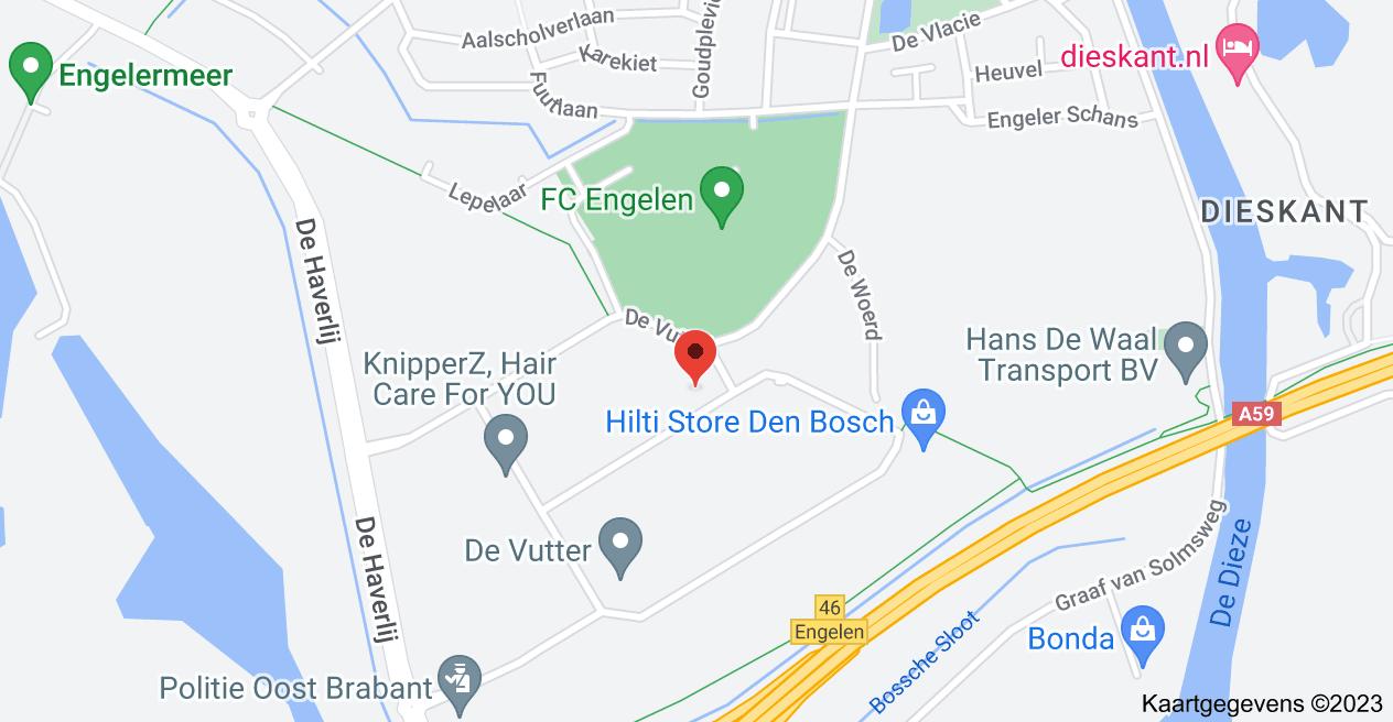 Kaart van De Bloemendaal 10, 5221 EC 's-Hertogenbosch