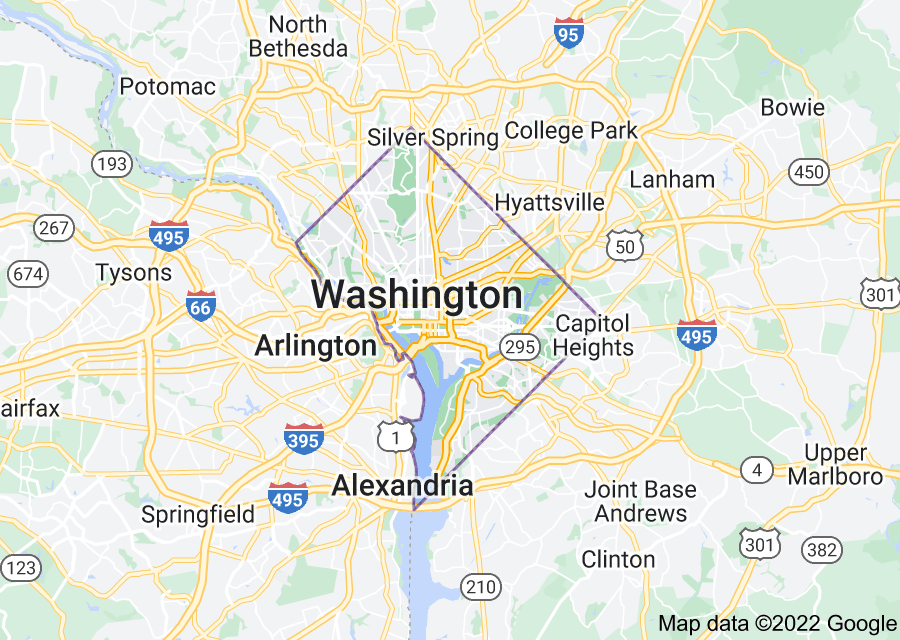 Location of District of Columbia