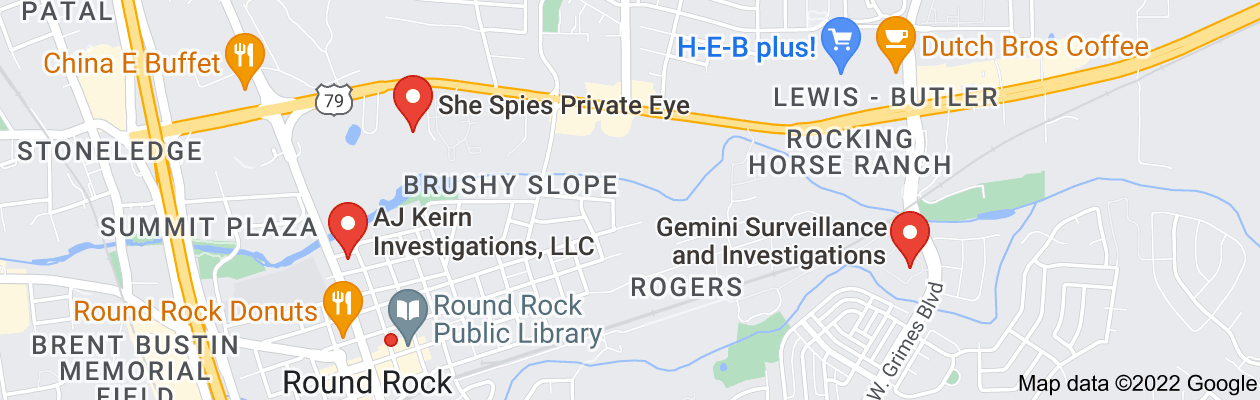 Map of private investigator round rock tx
