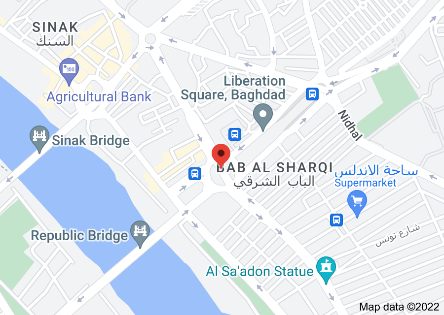 Location of Liberation Square, Baghdad