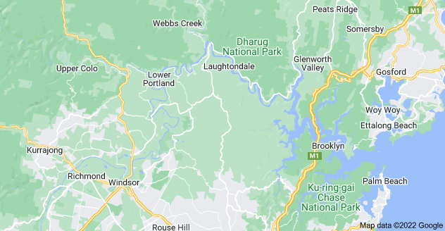 Map of Hawkesbury River, New South Wales