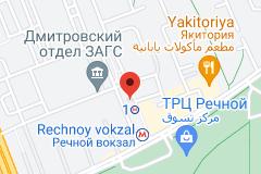 Location of Rechnoy Vokzal