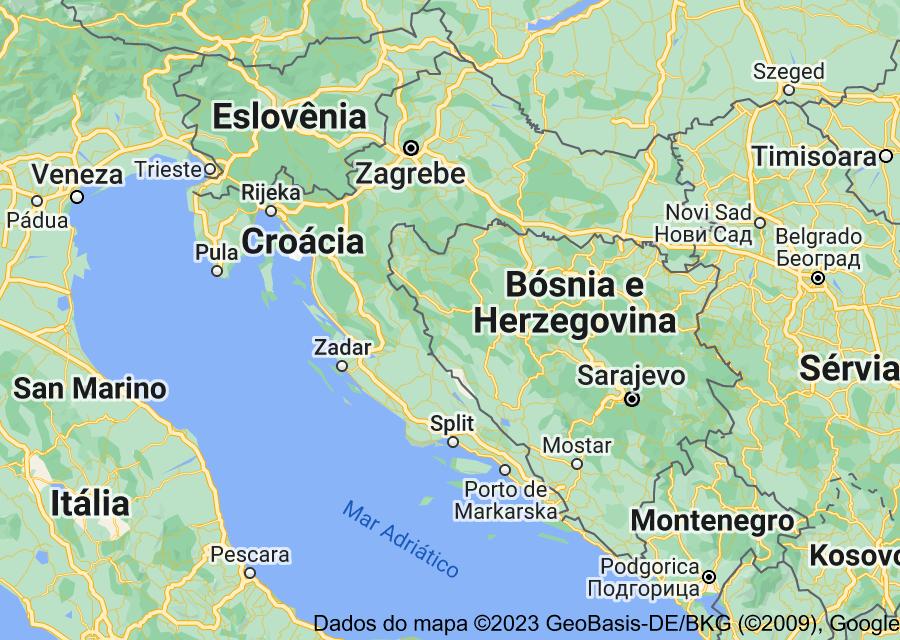 Location of Croácia