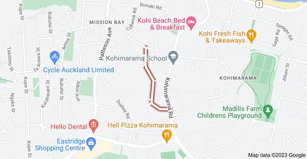 Location of Comins Crescent