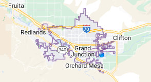 Map of Grand Junction Colorado