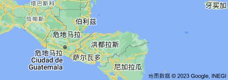 Location of 洪都拉斯