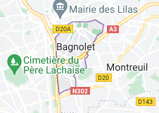 Location of Bagnolet