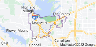 Map of Lewisville, Texas