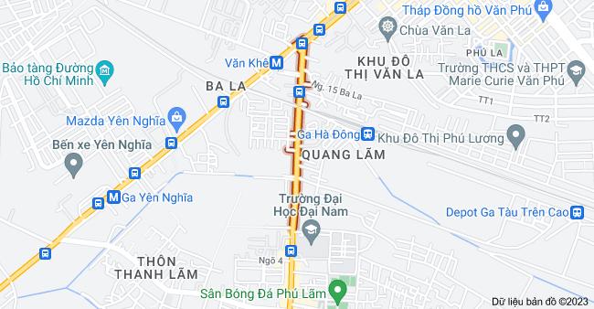 Bản đồ của Ba La, Hà Đông, Hà Nội