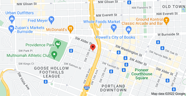 Map of 1410 SW Morrison St #850, Portland, OR 97205, USA