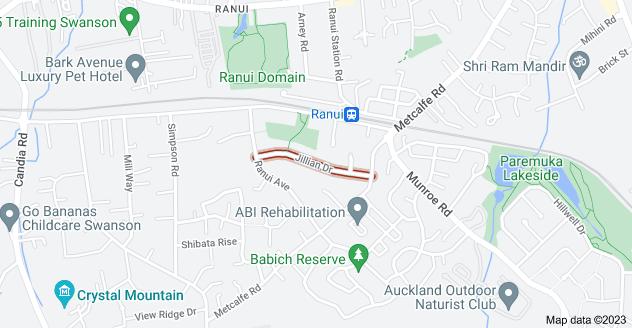 Location of Jillian Drive