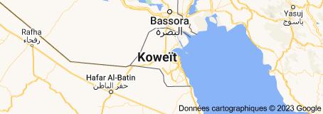 Location of Koweït