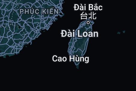 Bản đồ của Đài Loan
