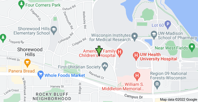 Map of 923 Cornell Ct, Madison, WI 53705