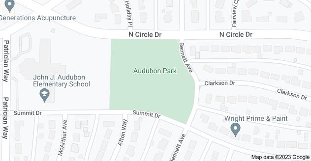 Map of Audubon Park, Colorado Springs, CO 80909