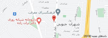 نقشه دکتر موسوی زاده متخصص زنان زایمان
